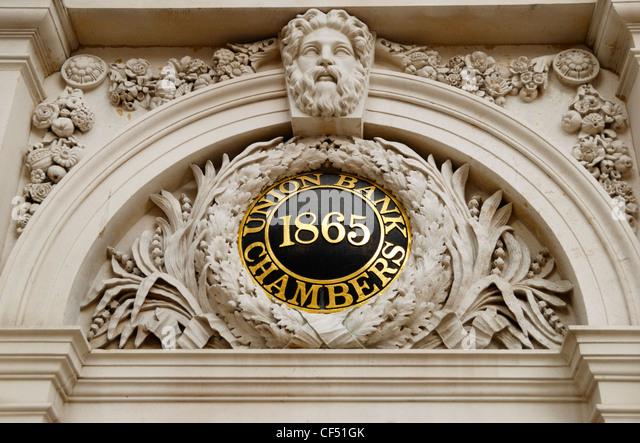 Union Bank Kammern bei 61 Carey Seitenstraße der Chancery Lane WC2. Stockbild