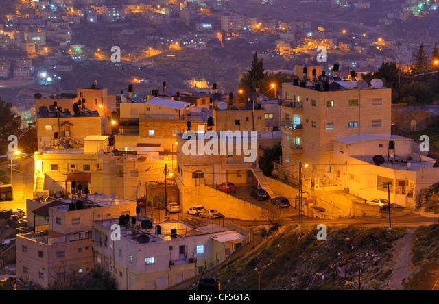 Arabisches Dorf in Jerusalem, Israel. Stockbild