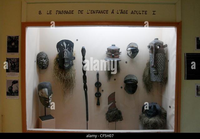 Das Ethnographische Museum in der Vorstadt von Ngaliema. Das Museum verfügt über viele historische Artefakte Stockbild