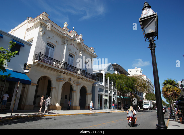 San Carlos kubanische Institut, Duval Street, Key West, Florida Stockbild