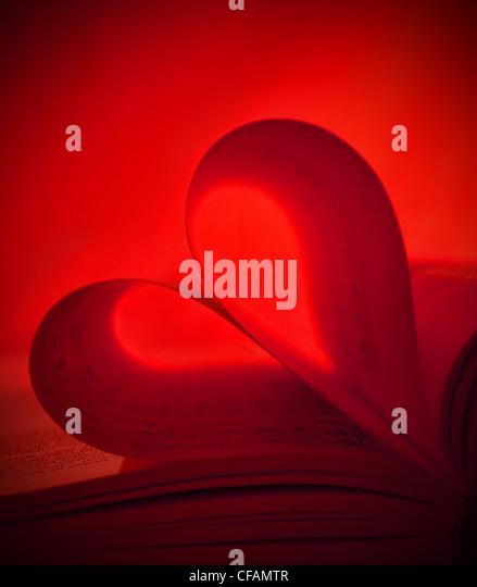 Rotes Herz Noten gemacht. Stockbild