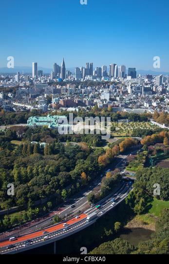 Tokyo, Japan, Asien, Stadt, Bezirk, Shuto, Schnellstraße, Staat, Shinjuku, Guest House, Architektur, große, Stockbild