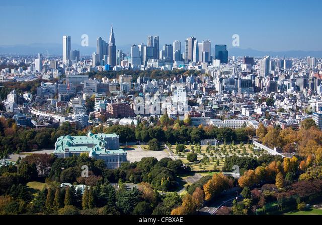 Tokyo, Japan, Asien, Stadt, Bezirk, Staat, Shinjuku, Guest House, Architektur, große, Gebäude, Stadt, Stockbild