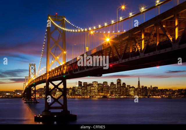 San Francisco-Oakland Bay Bridge (lokal bekannt als die Bay Bridge) Stockbild