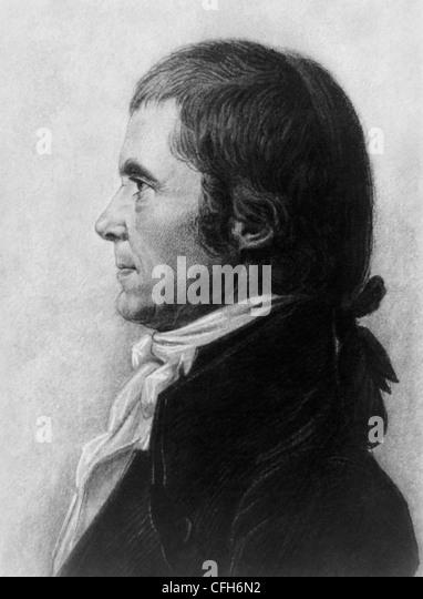 Vintage Porträt drucken amerikanischer Staatsmann und Richter John Marshall (1755-1835) - die vierte uns Oberrichter Stockbild