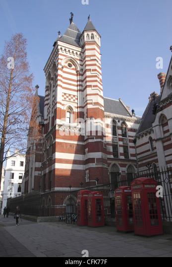 Rückseite der königlichen Gerichte von Gerechtigkeit Carey Street in der Nähe von Lincolns Inn London Stockbild