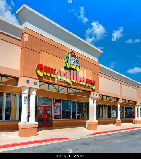 Chuck E. Cheeses ist ein etablierten amerikanischen Familienrestaurant und Arcade-mit über 500 Standorten. Stockbild