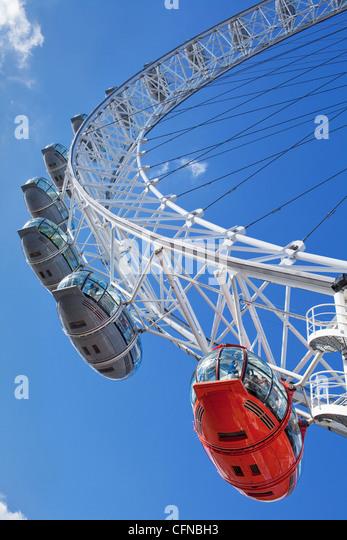 Das Millennium Wheel (London Eye), London, England, Vereinigtes Königreich, Europa Stockbild