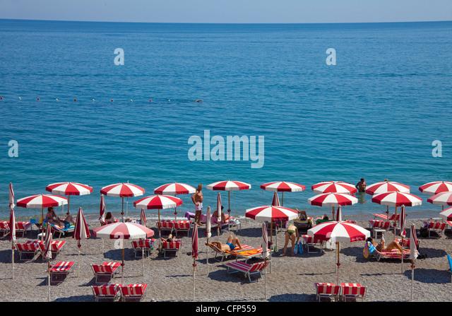 Strand von Amalfi, Strand von Amalfi Stockbild