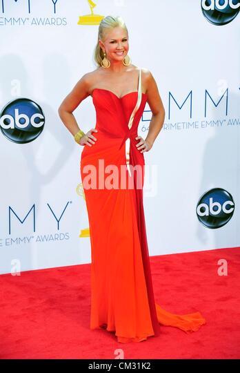 Nancy O'Dell arrivals64th Primetime Emmy Awards - Ankünfte Nokia Theatre L.A. LIVE Los Angeles CA 23. September Stockbild