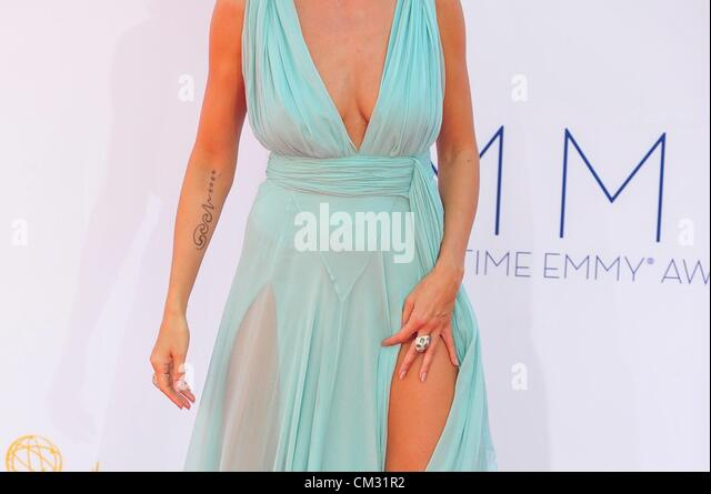 Heidi Klum arrivals64th Primetime Emmy Awards - Ankünfte Nokia Theatre L.A. LIVE Los Angeles CA 23. September Stockbild