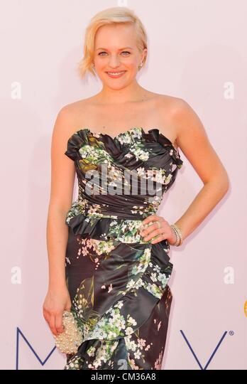Elisabeth Moss arrivals64th Primetime Emmy Awards - Ankünfte Nokia Theatre L.A. LIVE Los Angeles CA 23. September Stockbild