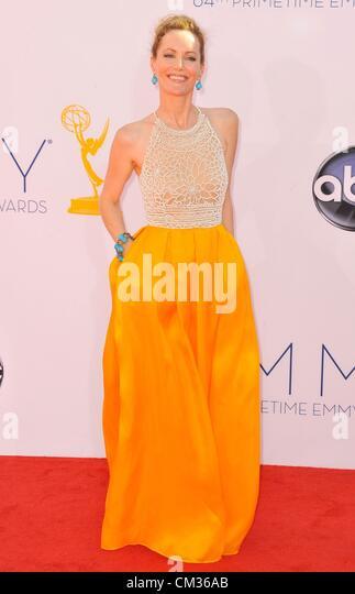 Leslie Mann arrivals64th Primetime Emmy Awards - Ankünfte Nokia Theatre L.A. LIVE Los Angeles CA 23. September Stockbild