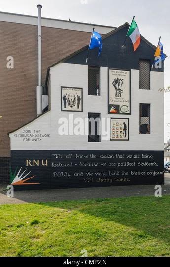 RNU Wandbild für republikanische Gefangene im Maghaberry-Gefängnis Stockbild