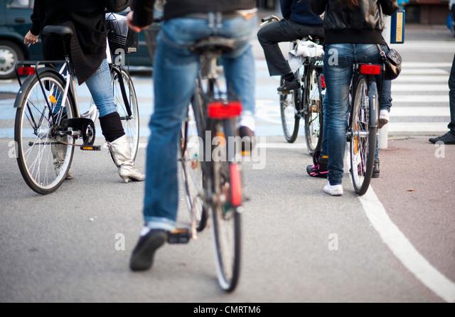 Bike zusammen Stockbild