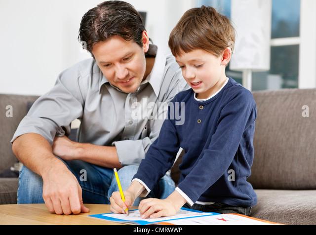 Vater und Sohn - Stock-Bilder