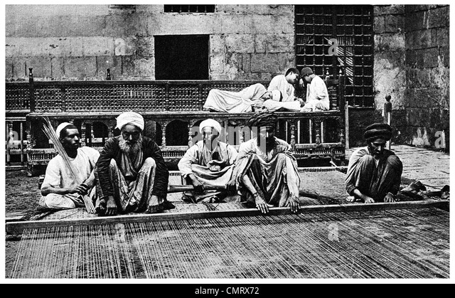 1919-Ägypten-Reed-Etage fertigen Weber Stockbild