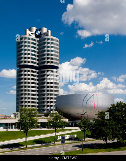 BMW Museum im Olympiapark, München Stockbild