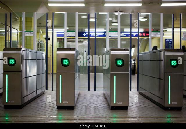 U-Bahn-Eingang Stockbild