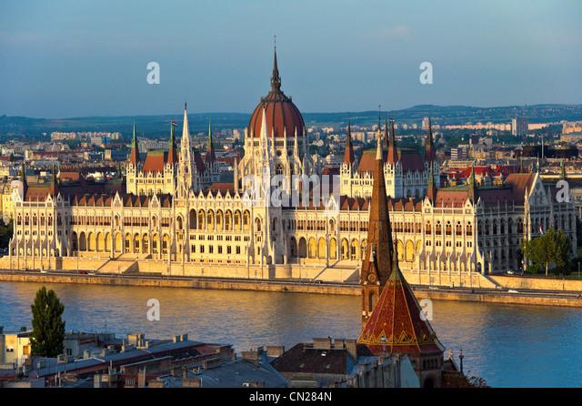 Houses of Parliament, Budapest, Ungarn. Stockbild