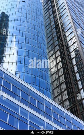 Moderne Gebäude, Frankfurt am Main, Deutschland Stockbild