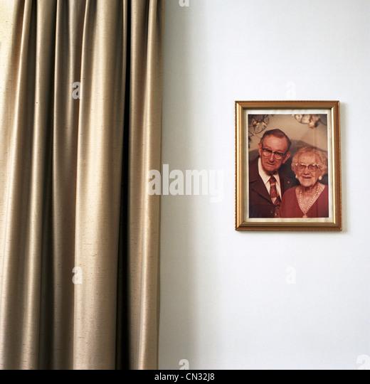Porträtfoto von älteres paar Stockbild