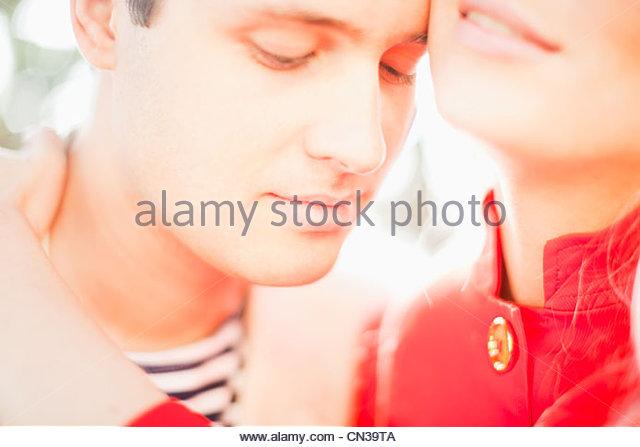 Intime junges Paar Stockbild
