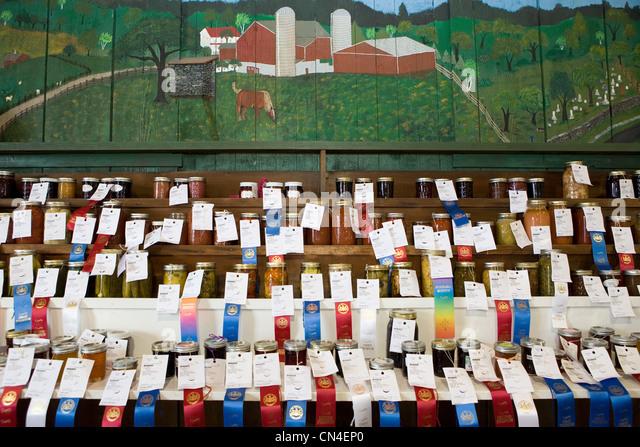Anzeige der preisgekrönte hausgemachte produzieren im Landkreis fayre Stockbild