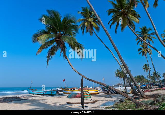 Colva Beach Goa Indien Stockbild