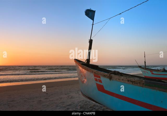 Boote am Colva Beach Goa Indien Stockbild