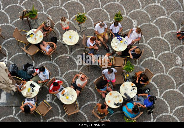Italien, Kampanien, Amalfiküste, aufgeführt als Weltkulturerbe der UNESCO, Astrani Stockbild