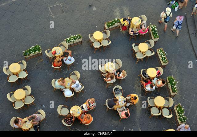 Italien, Kampanien, Amalfiküste, Weltkulturerbe von UNESCO, Amalfi, Piazza Duomo Stockbild