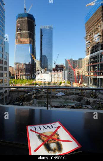 Vereinigte Staaten, New York City, Manhattan, Wiederaufbau am Ground Zero mit dem One World Trade Center (Freedom Stockbild