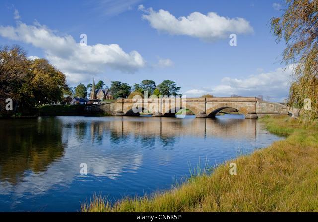Township von Ross. Tasmanien. Australien. Stockbild