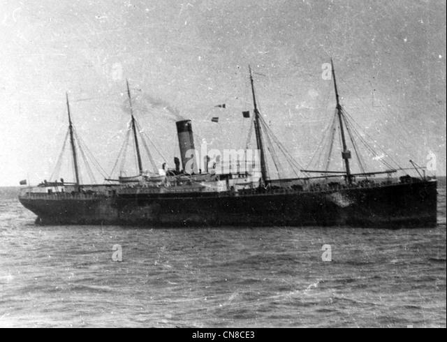 SS Californian Dampfschiff am Morgen nach dem Untergang der Titanic Stockbild
