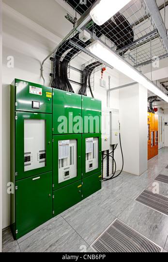 Ich & M Stromverteiler grün Stockbild