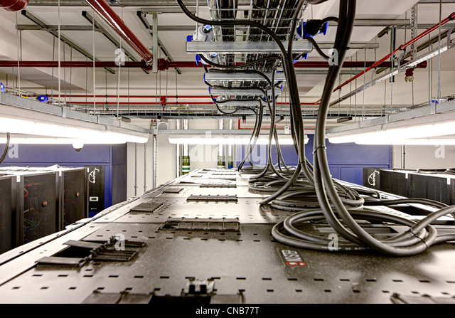Kommunikation Zimmer Overhead Stromversorgungssystem Stockbild