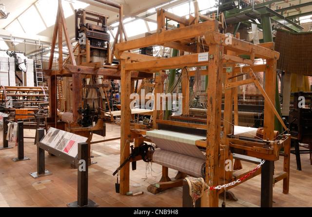 Frankreich, Nord, Roubaix, loom im Museum für die Herstellung des Flandres ein Museum-Textil-Werkstatt gewidmet Stockbild