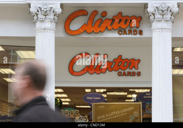 Clinton Karte Ladenfront Stockbild