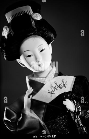 Geisha-Puppe. Japan traditionell Kulturbegriff. Stockbild