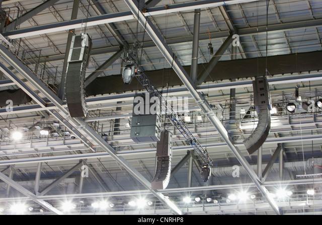Stadion-Decke Stockbild