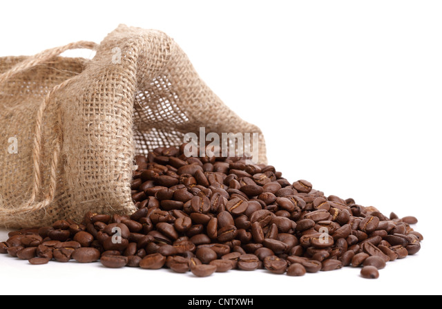 Kaffeebohnen überfüllt Stockbild
