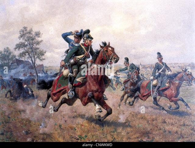 Veranstaltungen, Franco-Preussischer Krieg 1870 - 1871, Gefecht bei Sturzelbronn, 1.8.1870, das bayerische Cheveu Stockbild
