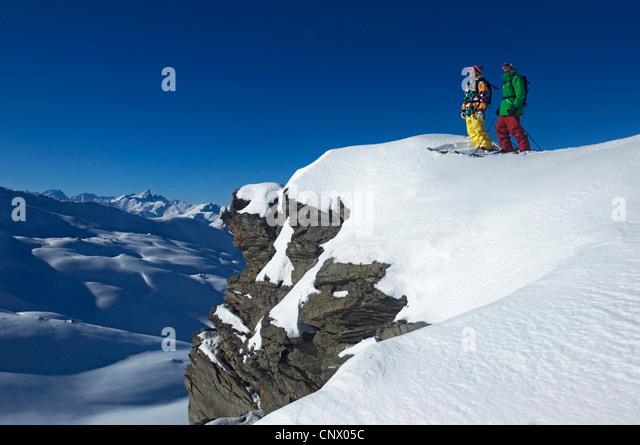 Skigebiet von Les M Nuires, Norden Alpen Berg, Frankreich Stockbild
