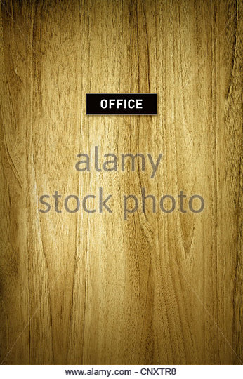 Büro-Türschild Stockbild