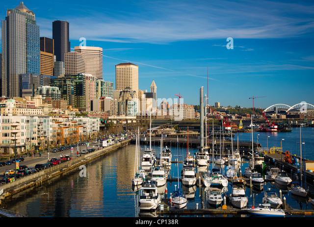 Seattle Waterfront Pier 66 Stockbild