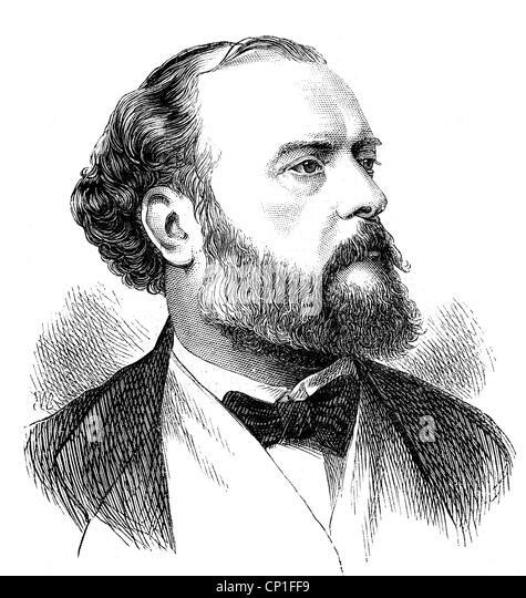 Vancel, Porträt, Gravur, 19. Jahrhundert, Männlich, Mann, Stockbild