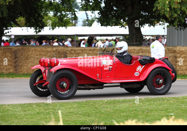 Oldtimer auf Glorious Goodwood Race circuit Stockbild