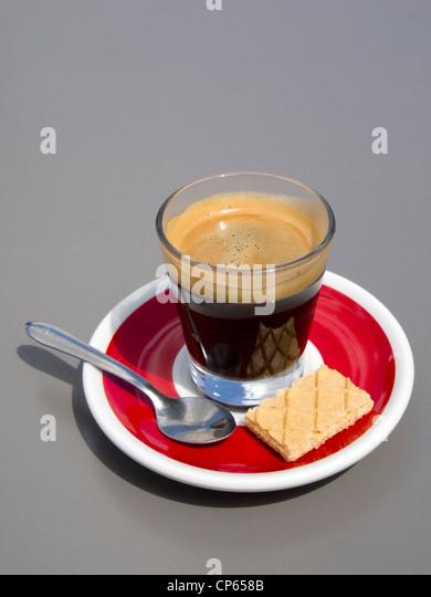 Espresso Kaffee Tasse isoliert ausgeschnitten Stockbild