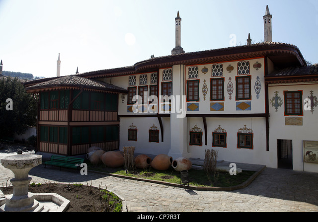 ALEVIZ PORTAL HANSARAY KHANS Palast BACHTSCHISSARAI Krim UKRAINE 4. April 2012 Stockbild